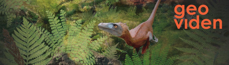 Del af forsiden til Geoviden om Danske Dinosaurer