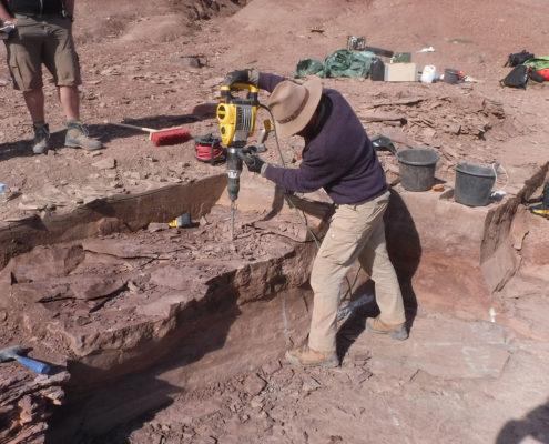 Fotografi af geologisk undersøgelse på Grønland